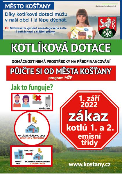 Plakát kotlíkové dotace